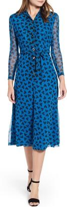Anne Klein Long Sleeve Midi Dress