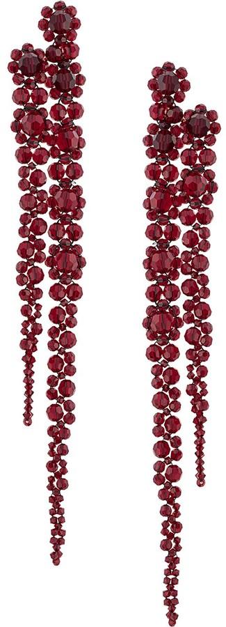 Simone Rocha Flower Crystal Drop Earrings