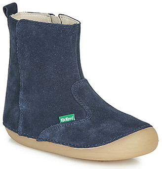 Kickers SOCOOL girls's High Boots in Blue