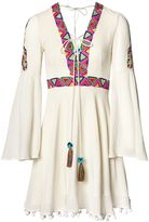 Matthew Williamson Peacock Embroidered Cotton Flare Dress