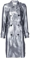 3.1 Phillip Lim lamé trench coat - women - Polyamide/Polyester/Viscose - 6