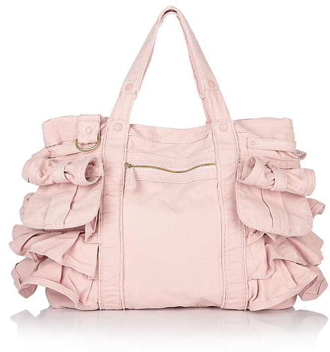 Juicy Couture Royal Ruffled Canvas Tote
