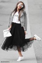 Forever 21 FOREVER 21+ Contemporary Tulle Maxi Skirt