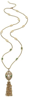 Bvlgari Yellow Gold and Diamond Serpenti Necklace