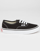 Vans Authentic Black & True White Kids Shoes
