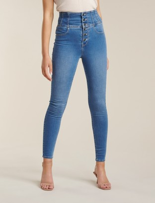 Forever New Sophie High Rise Sculpting Jean - Rio Blue - 4