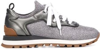 Brunello Cucinelli Sparkling Knit Sneakers