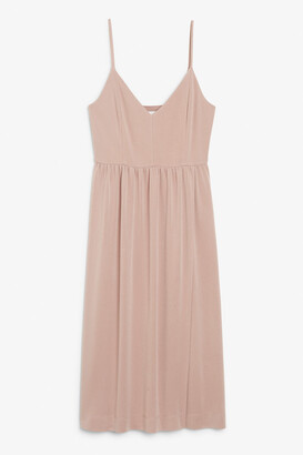 Monki Spaghetti strap midi dress