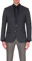 HUGO BOSS Single-breasted wool-blend jacket