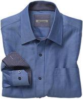 Johnston & Murphy Tailored Fit Herringbone Stripe Shirt