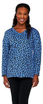 Denim & Co. Animal Print Jacquard V-neck Knit Top