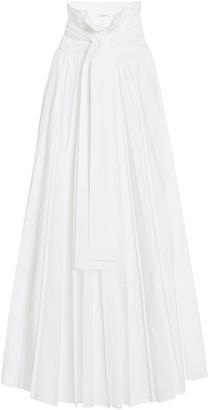 Philosophy di Lorenzo Serafini Pleated Poplin Maxi Skirt