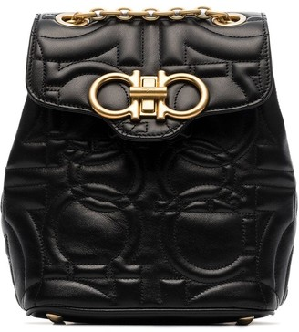 Salvatore Ferragamo Gancini quilted leather backpack