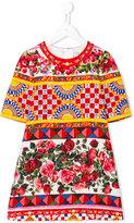Dolce & Gabbana printed T-shirt dress - kids - Silk/Cotton/Viscose - 8 yrs