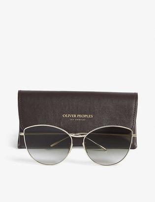 Oliver Peoples Rayette irregular-frame sunglasses