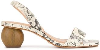 Vicenza Snakeskin Effect Sandals