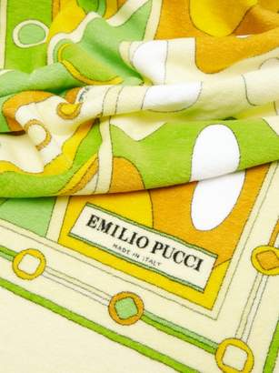 Emilio Pucci Vivara-print Cotton-terry Beach Towel - Womens - Yellow Multi