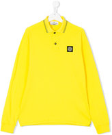 Stone Island Junior - longsleeved polo shirt - kids - Cotton/Spandex/Elastane - 14 yrs