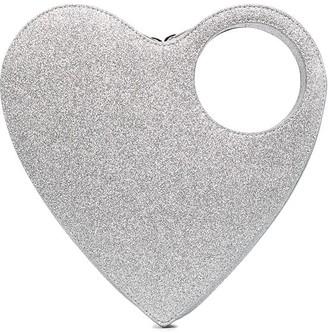Coperni Heart Swipe clutch bag