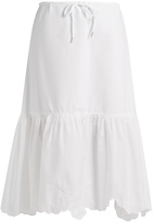 See by Chloe Drawstring-waist cotton-poplin skirt