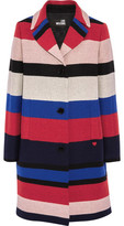 Love Moschino Striped Woven Coat