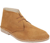 Yours Clothing Sand SUEDE Desert Boot In Wide Fit