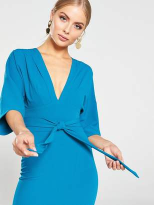 Very Milana Kimono Sleeve Midi Dress - Teal