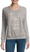 Buffalo David Bitton Dog Graphic Cozy Sweatshirt Top