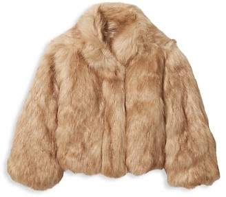 Janie and Jack Baby's, Little Girl's & Girl's Crop Faux Fur Jacket