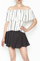 Honey Punch Tiered Stripe Top