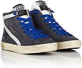 Golden Goose Deluxe Brand Slide Suede Sneakers-GREY, SILVER