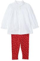 Ralph Lauren Girl Ruffled Top & Floral Legging