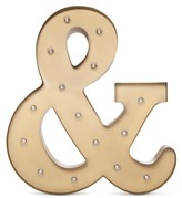 Threshold Metal Marquee Large - Ampersand - Brass
