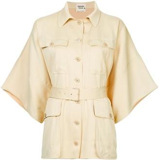 Hermes Pre-Owned Oversized Short Sleeve Shirt