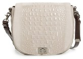 Brahmin 'Wilmington Sonny' Nubuck Leather Crossbody Bag - Metallic