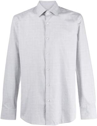 HUGO BOSS check print shirt
