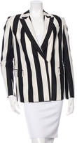 Robert Rodriguez Notch Lapel Striped Blazer