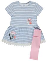 George Striped Dress and Leggings Set