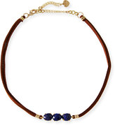 Nakamol Braided Leather & Lapis Choker