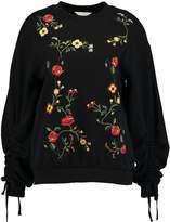 Miss Selfridge EMB RUCHE Sweatshirt black