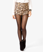 Forever 21 High-Waisted Leopard Print Shorts
