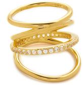 Elizabeth and James Mondrian Pave Ring