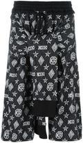 Kokon To Zai monogram tied up shorts