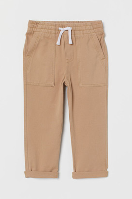 H&M Cotton twill pull-on trousers