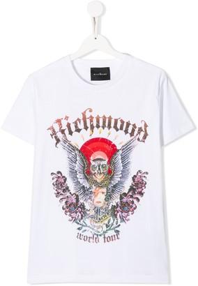 John Richmond Junior TEEN owl print T-shirt