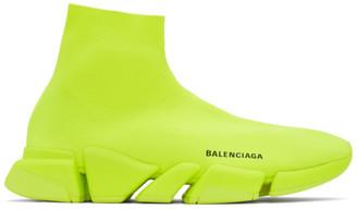 Balenciaga Yellow Speed 2.0 Sneakers