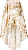 Christian Pellizzari high-low floral skirt