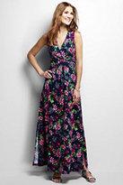 Lands' End Women's Knit Maxi Dress-Black