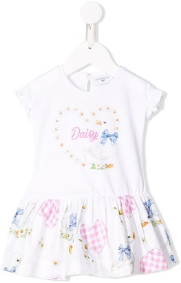 MonnaLisa Daisy printed dress