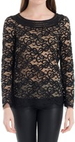 Max Studio Swirled Lace Long Sleeved Blouse